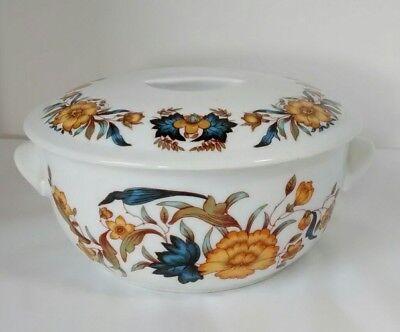 Georg Jensen Solair Tampico Fine Porcelain Covered Vegetable Dish Made in France