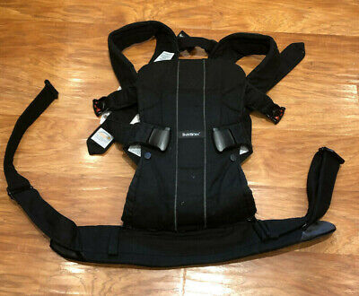 $200 BABYBJORN® Baby Carrier One Black Soft Cotton Mix 4-Way Front or Back ergo
