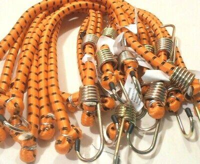 Bungee Cord Heavy Duty 10 Pc. Set 24 Inch 2 Ft. Orange Tie Down Strap Bungy
