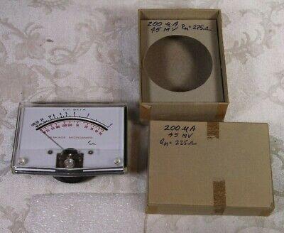 Vintage Dc Beta Leakage Microamps Panel Meter Dc In Original Box W Screws