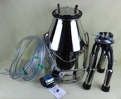 304 Stainless Steel Milk Bucket Portable Cow Milking Barrel Tank