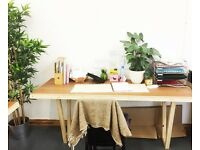 Desk Space to rent in trendy and friendly Dalston Warehouse studio