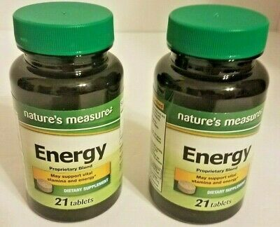 """Lot of 2 Nature's Measure """"Energy"""" Supplement - NEW - EXP - 6/22"""