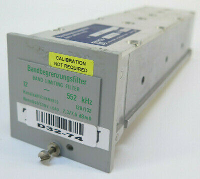 Wandel Goltermann Band Limiting Filter 12 - 552 Khz - 120132 - 12552 853450