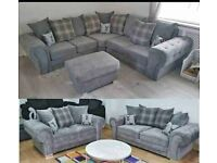 CASH ON DELIVERY--FACTORY PACKED VERONA CORNER SOFA AVAILABLE IN 3+2 SOFA SETS