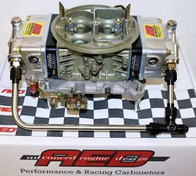 Holley 650 Double Pumper Carburetor by AED with Fuel Line kit