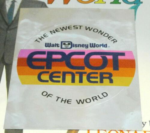 Walt Disney World Epcot Center The Newest Wonder Of The World Sticker Decal