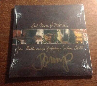 JOHN MELLENCAMP Sad Clowns & Hillbillies SIGNED Autographed CD