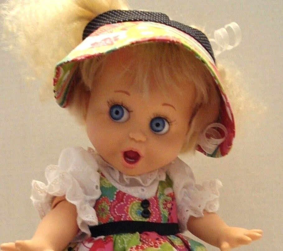 Baby Face Doll So Surprised Suzi #1 Galoob 1990 First Edition w/New Outfit/Shoes