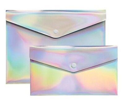 Divoga Poly Snap Letter Check Envelopes 9 116 X 12 14 Rainbow Foil 6each