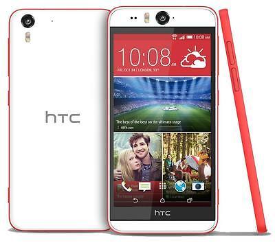New HTC Desire Eye M910x Unlocked GSM 4G LTE Quad-Core Phone - White/Red