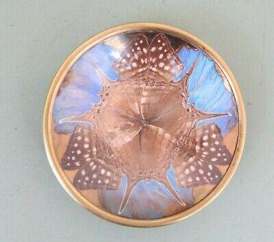 F. Billère - Art Déco Brass & Glass Butterfly Wings France 1930 - 1940 Dish