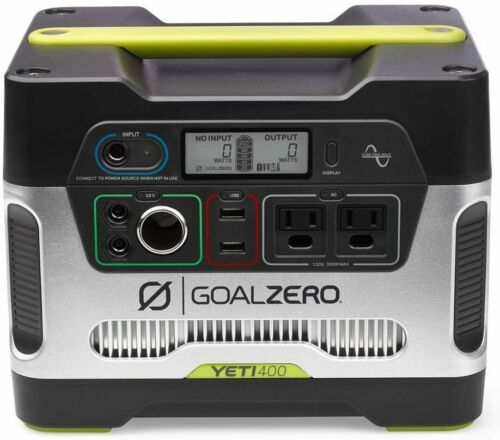 Goal Zero Yeti 400 Portable Power Station, 400Wh Generator Alternative with 12V,
