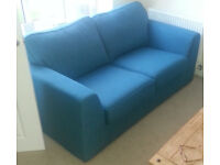 DFS Adora pair of 2 seater Teal Sofas. Great Condition. Includes 2xGrey & 2xTeal cushions.