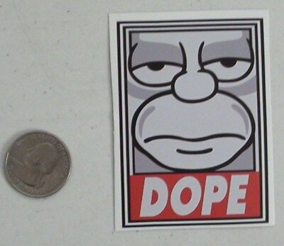 homer simpson sticker obey parody dope the simpsons cell laptop bumper decal