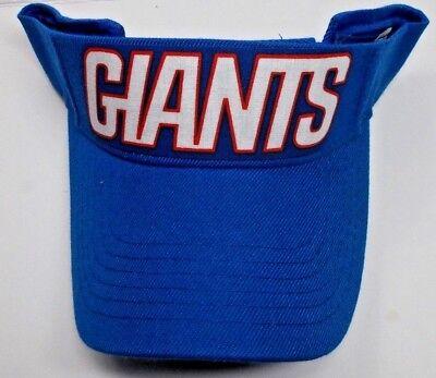 - Read Listing! New York Giants Heat Applied FLAT LOGO on Royal visor cap hat!