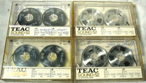 Teac Sound 52 Cassettes,2 Black and 2 Silver,with cases