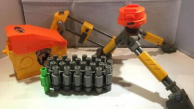 Nerf N-Strike Vulcan Tripod, Ammo Belt, Stock & Box Replacement Accessories Lot