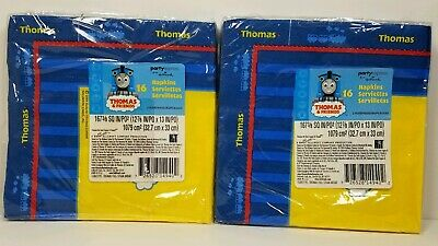 Thomas The Train Lot of 2 Lunch Napkins 16 Count Party Supplies Hallmark