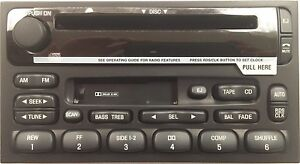 OEM CD Cassette radio. For Nissan Quest Mercury Villager 99-02. Reman=Perfect!
