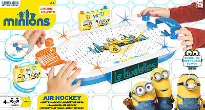 DESPICABLE ME MINIONS AIR HOCKEY ARENA GAME MACHINE KIDS PRESENT GIFT TOY NEW