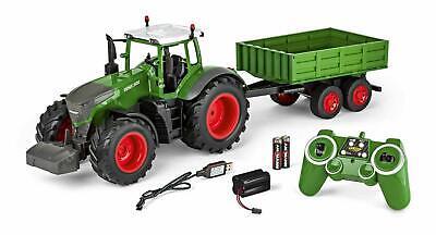 Carson 500907314-1:16 Tractor teledirigido con Remolque 100% RTR Luz y Sonido