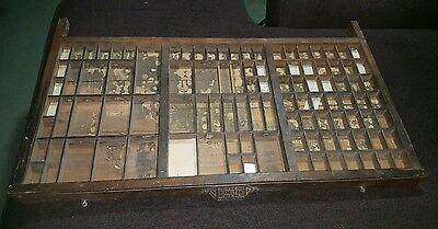 SHADOW BOXES, VINTAGE PRINTERS TYPE CASE HAMILTON WOODEN TYPE TRAY DRAWERS