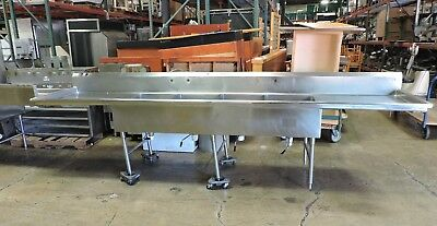 Commercial Stainless Steel 4-compartment Sink W 2 Drainboards - 152
