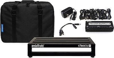"Pedaltrain Classic JR 18""x 12.5"" Softcase Pedalboard Bundle w/Power Supply!"
