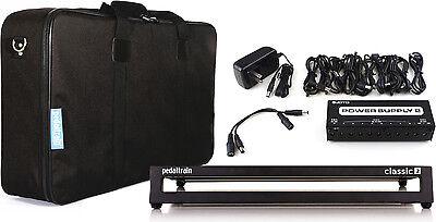 "Pedaltrain Classic 2 12.5""x 24"" Softcase Pedalboard Bundle w/Power Supply!"