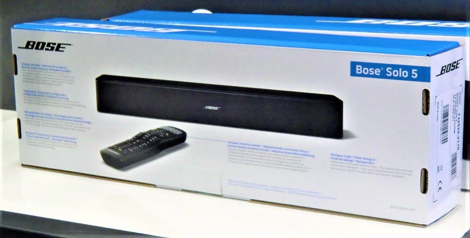 Bose® Solo 5 TV Sound System - schwarz - Soundbar - NEU und OVP