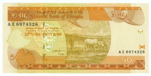 Ethiopia ... P-49b ... 50 Birr ... 2000 ... Gem *UNC*.
