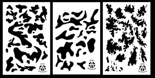 "3Pack! Vinyl Airbrush Spray Paint Camo Stencils 14"" Multicam - Army - TACS"