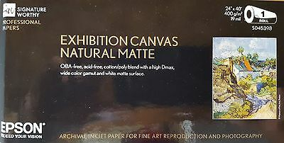"24""x40' Epson Exhibition Canvas Matte OBA-Free Natural $133 List Price (S045398)"