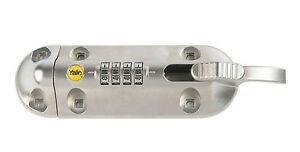 YALE COMBINATION BOLT / LOCK 150mm - GARAGE, SHED, GATE - SILVER (ZINC) - NEW