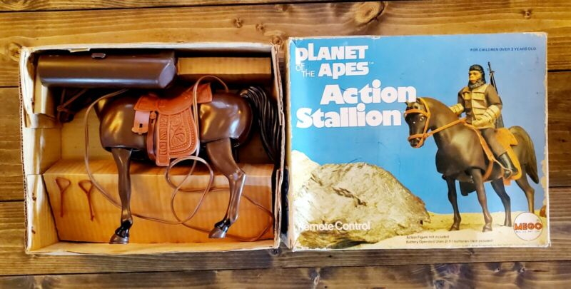 """1974 """"PLANET OF THE APES"""" Original MEGO BATTERY OP """"ACTION STALLION"""" In The BOX"""