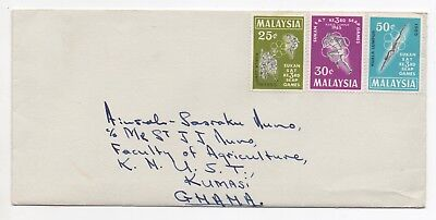 1965 MALAYSIA Cover to KUMASI GHANA Unfranked 3rd SEAP GAMES Issues
