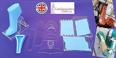Fondant High Heel Shoe Kit for Cake Decoration and Cake Toppers   13 Parts