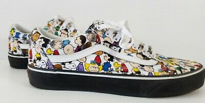 Mens Vans Peanuts Charlie Brown Shoes Size 10.5  pre-owned No Box
