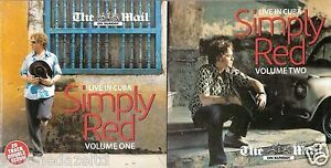 SIMPLY RED - LIVE IN CUBA - 2 DISCS - MAIL ON SUNDAY PROMO MUSIC CD