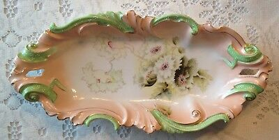 Antique RS Prussia Unmarked Celery Dish