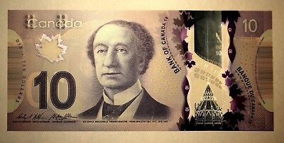 2013 CANADA POLYMER BANK NOTE 10 DOLLARS UNCIRCULATED BILL,BANK MONEY 1PC