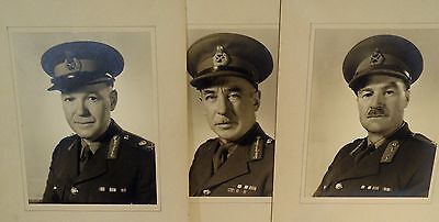 WW2 CANADIAN GENERALS REAL PHOTOS LOT OF THREE PLUS  MINISTER RALSTON