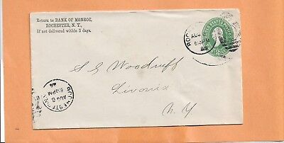 Bank Of Monroe  Rochester Ny 1885 Vintage  Advertising Cover