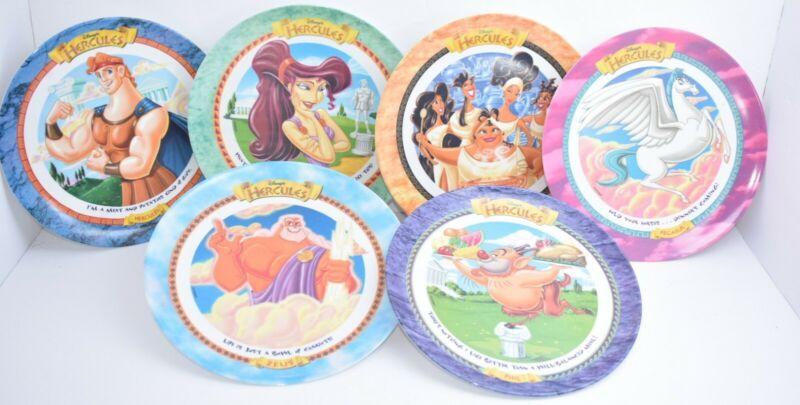 McDonalds Disney Hercules Melamine Plates Vintage Rare Complete Set of 6 1997