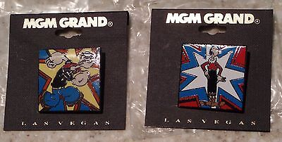 Popeye and Olive Oil Lapel Pins MGM Grand Exclusive New in - Popeye And Olive Oil