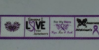 Family Ribbon - ALZHEIMER'S AWARENESS GROSGRAIN RIBBON - FAMILY - HAIRBOW - 7/8