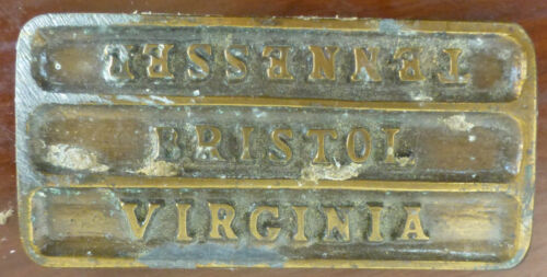 Replica of the Bristol Virginia/Tennessee State Line Street Marker