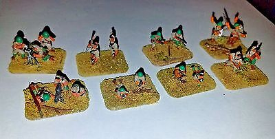 FOW Flames of War 15mm Japanese Infantry 8 stands painted, flocked, mounted