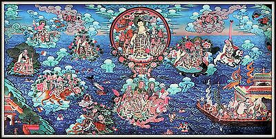 """Mysterious!   """"Thankga Fine Art Print from Tibet""""   (17.75"""" High x 35"""" Wide)"""